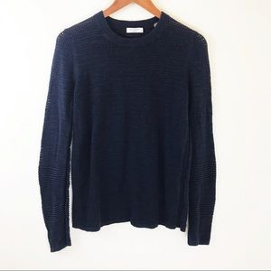 Equipment Femme Crew Neck Sweater Open knit Navy